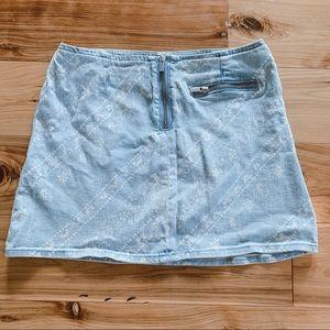 Urban Outfitters paisley denim skirt